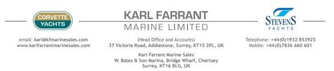 Karl Farrant Marine / Corvette Yachts Europe logo
