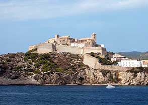 The Ibiza castle provides a reminder of past battles along the Spanish coastline.