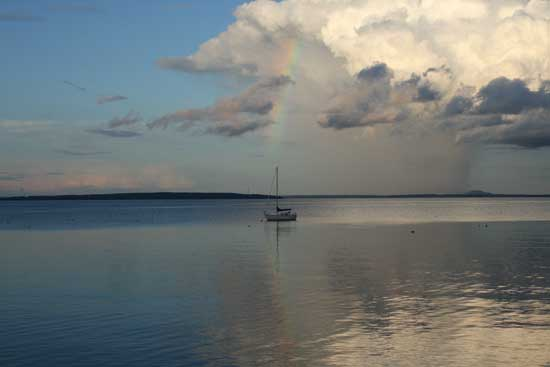 1st place, taken by Jon Kriebel from his porch south of Belfast Harbor, ME.