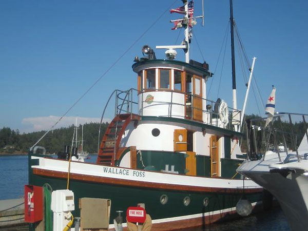A photo of Wallace Foss, a classic Pacific Northwest tug.