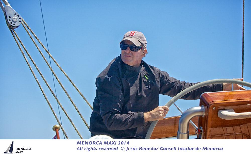 Ken Read took charge of Hanuman for the inaugural Menorca Maxi regatta. Photo © Jesus Renedo