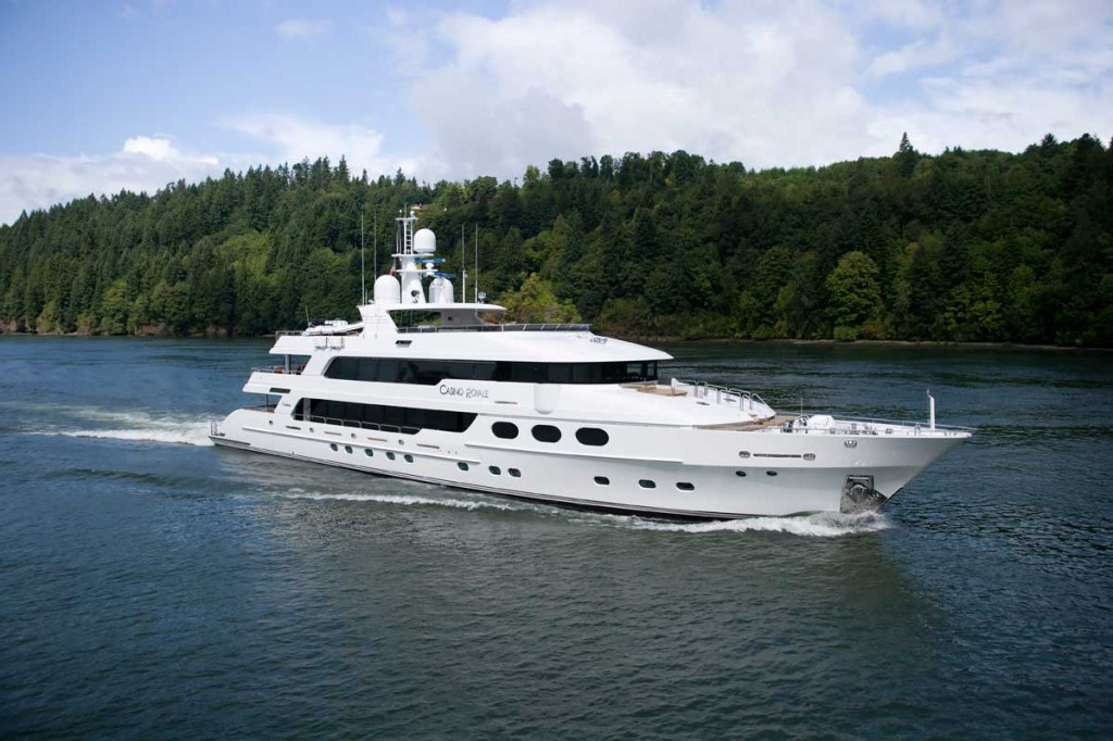 This 163-foot Christensen, named Casino Royale after the James Bond film, is but one of several megayachts John and Jeanette Staluppi have owned.