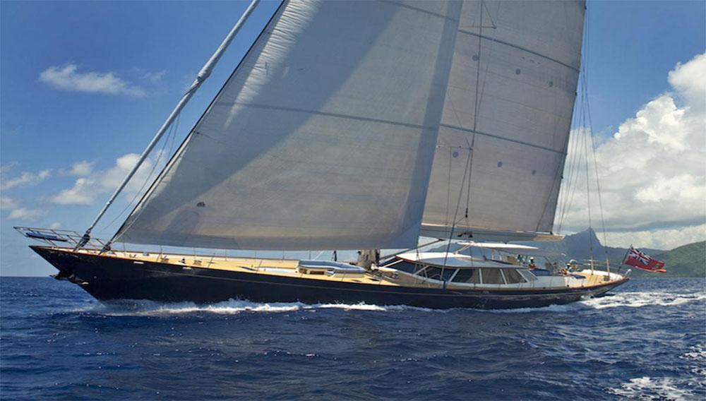 Fitzroy 41 sailing yacht under sail