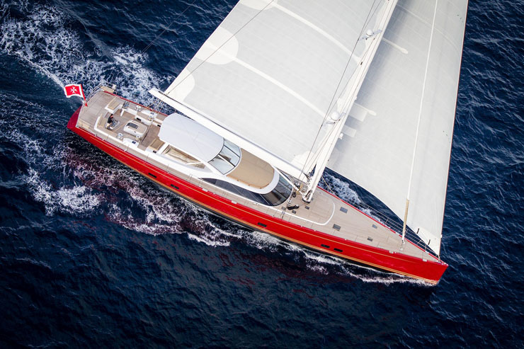 Baltic 116 sailing superyacht