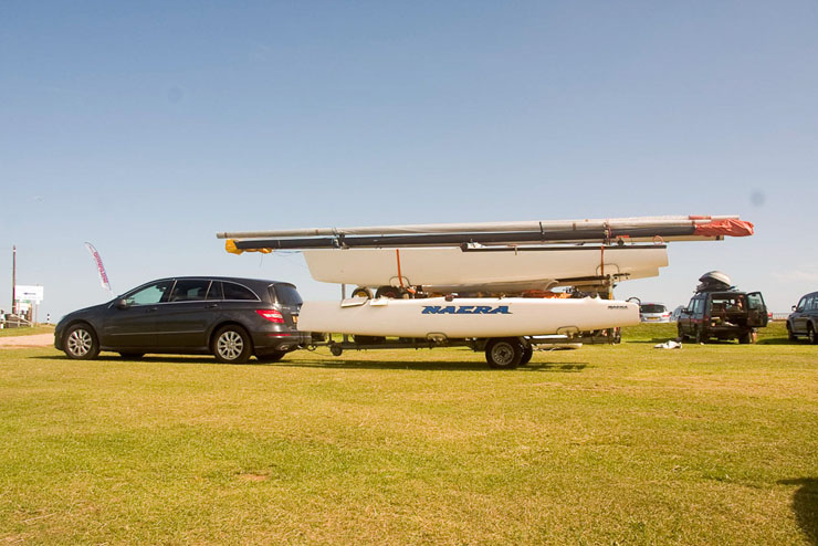 Towing a boat by road behind your own (or a hired) vehicle is a viable proposition for smaller lightweight craft.
