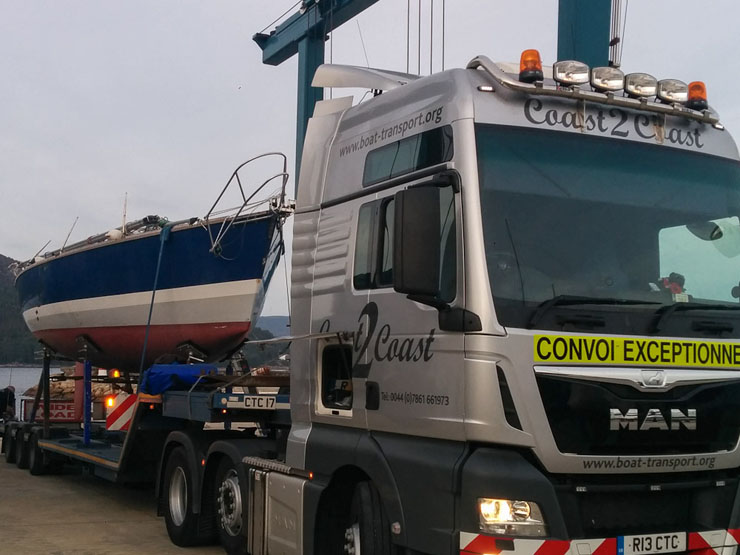 Yacht transport by road is often a viable method and is applicable to boats of a significant size.