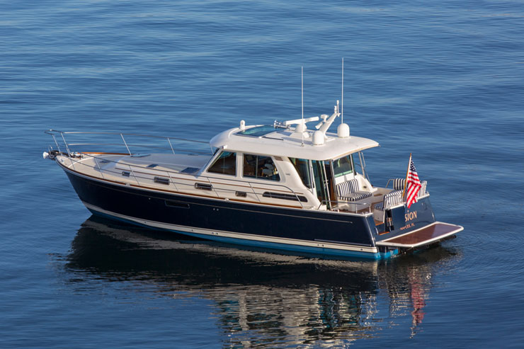 Boaters have been captivated by the 48 Salon Express since its introduction, and they're a hot commodity on the brokerage market.