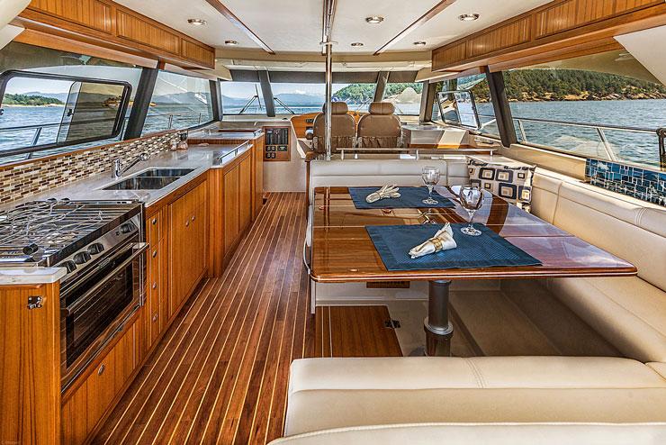 Boat Galley on An Aspen 120 Yacht