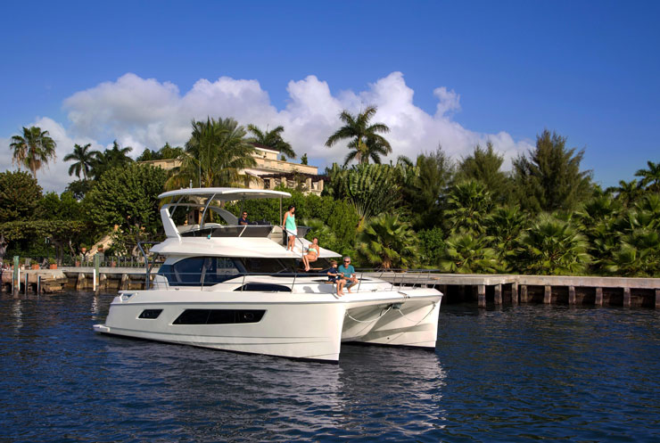 The Aquila 44 is a perfectly sized vessel for charter as well as private ownership.
