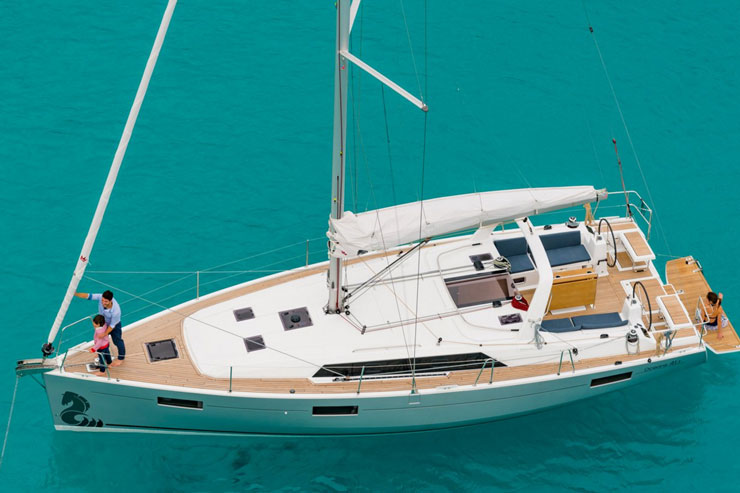 If you want to keep your charter crew small and see what it would be like to own a couple's boat, the Beneteau 41.1 fits the bill.