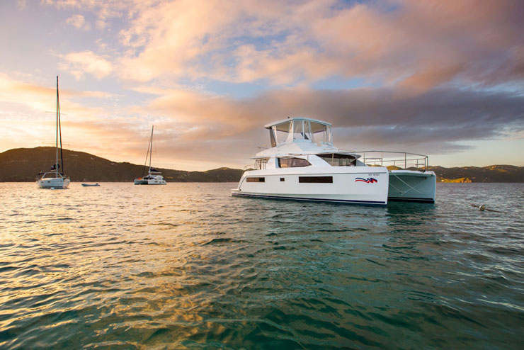 The world is going to the cats—catamarans, that is, like the Leopard 43 PC.