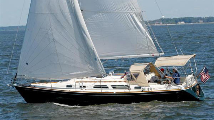 Designed by Jim Taylor, the Sabre 362 was a popular club racer, but served many families as a coastal cruiser.