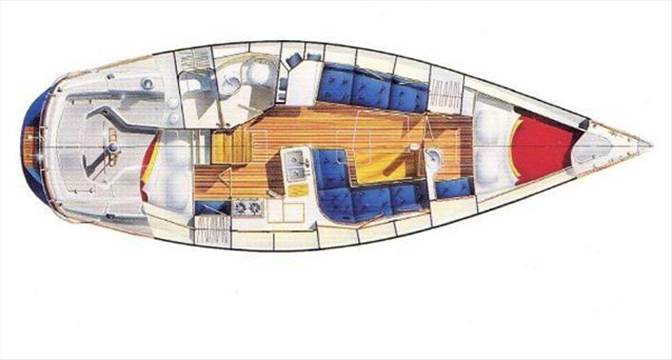 The master stateroom is forward with a V-berth, a washbasin and dressing area. A hanging locker is to port and a small seat to starboard. Another cabin with a tighter quarter berth is to starboard just aft of the L-shaped galley. It's just big enough to make sure guests are comfortable but won't overstay their welcome.