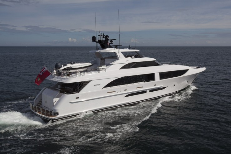 With more curves and an elongated port below decks, the 125 caters well to contemporary tastes, without making traditionalists feel the yacht looks too trendy. Note, too, the hardtop, for sporty appeal.