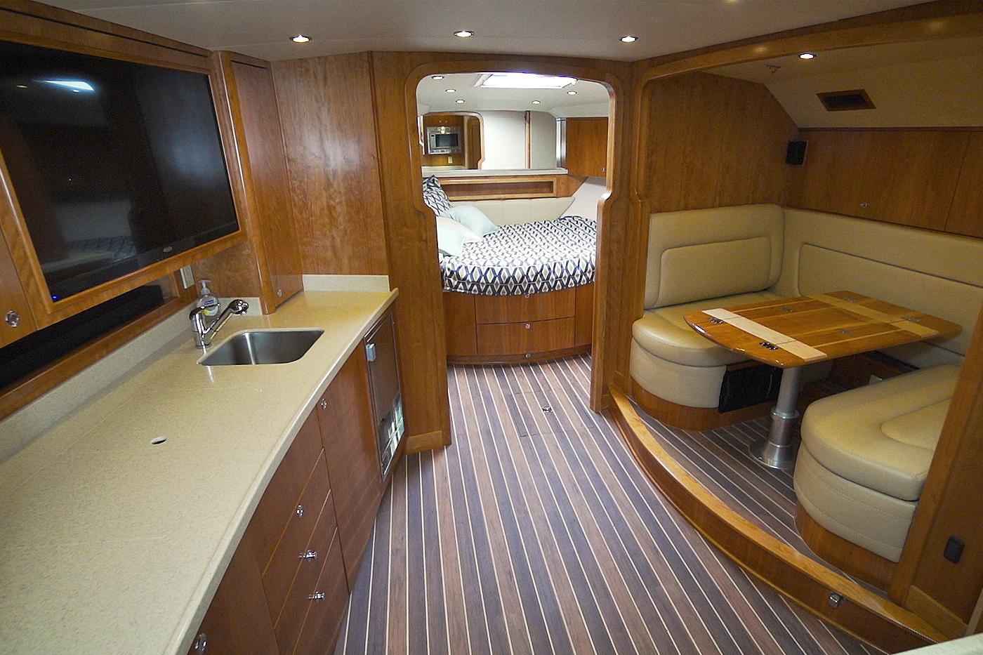 Albemarle 41 Express Custom Carolina Edition Fishing Boat Cabin Interior