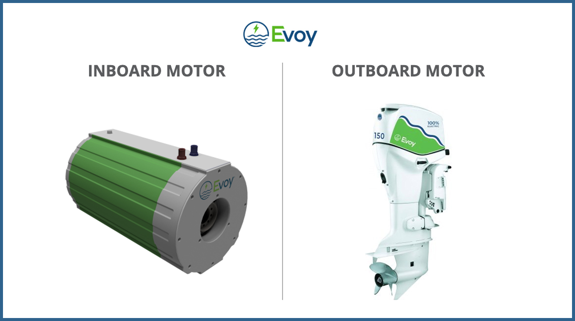 Evoy's electric motors for boats