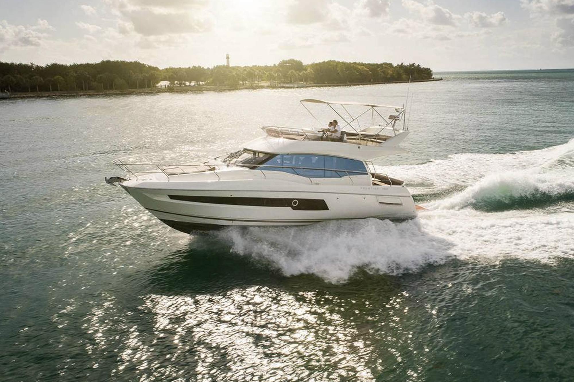 Prestige 460 Yacht. Photo: Prestige Yachts.