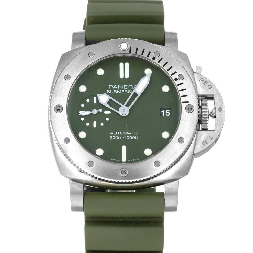 Panerai Submersible-Verde-Militare-Watch