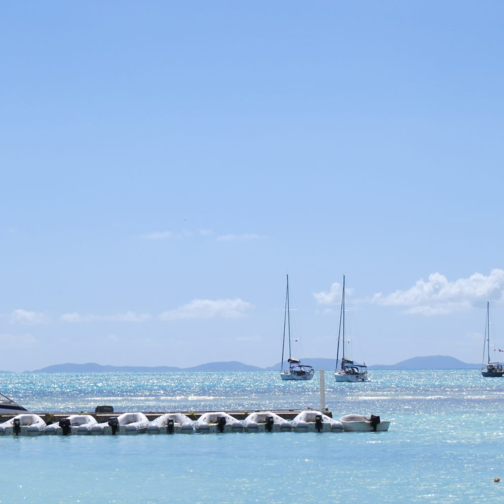 Dinghies in the BVI Anegada