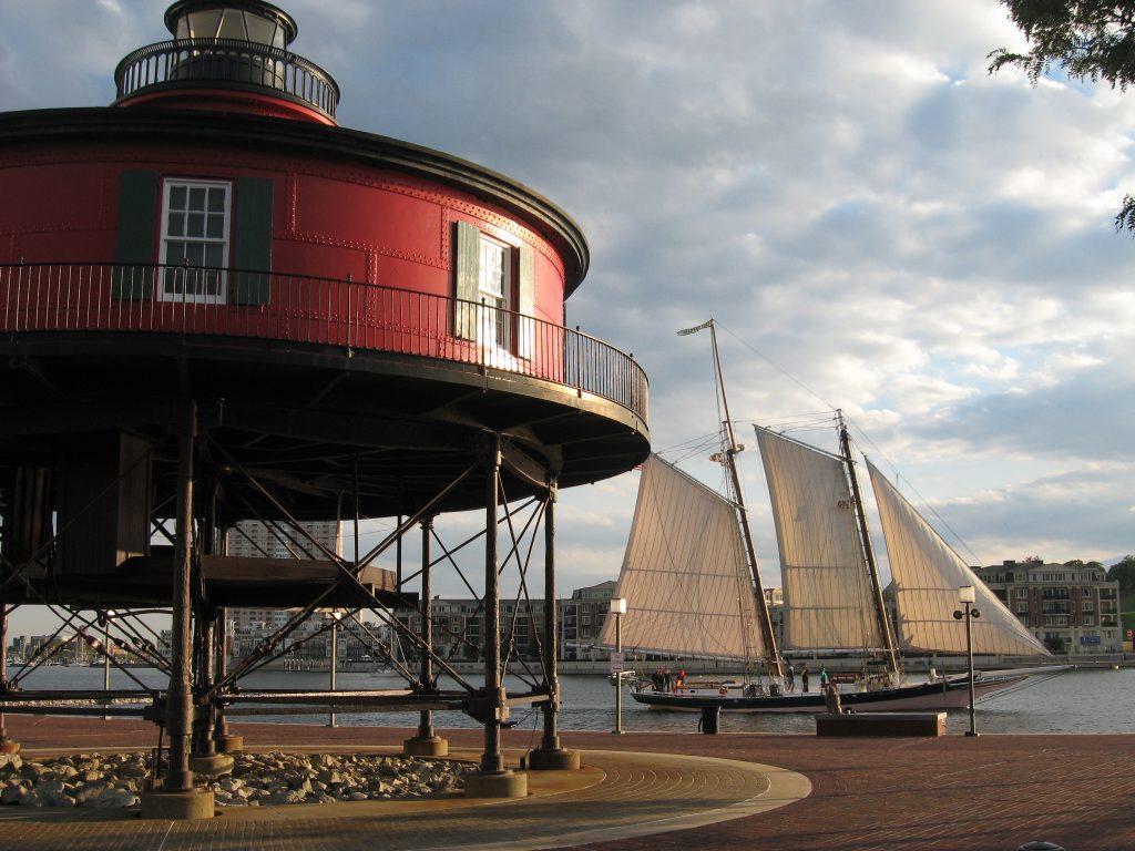 Chesapeake Balt Seven Foot Knoll Lighthouse
