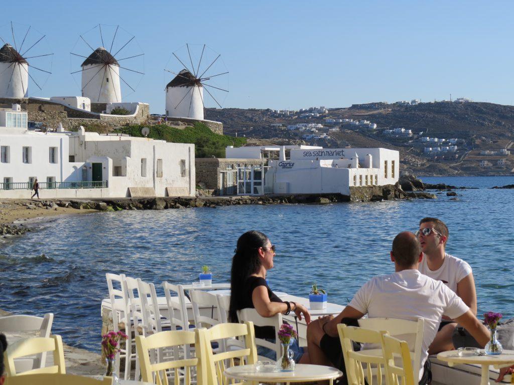 Mykonos windmill cafe