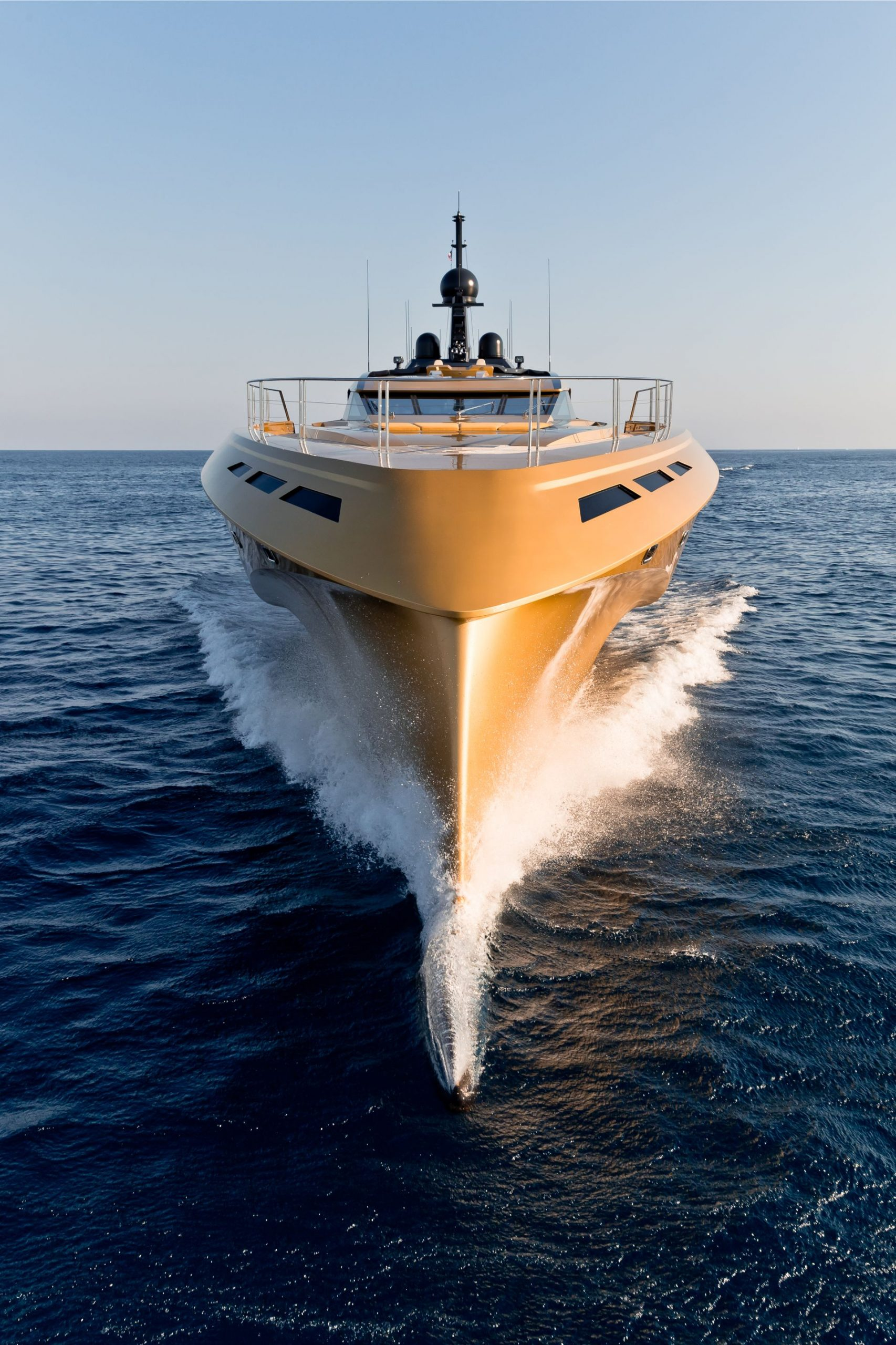 Bow of superyacht