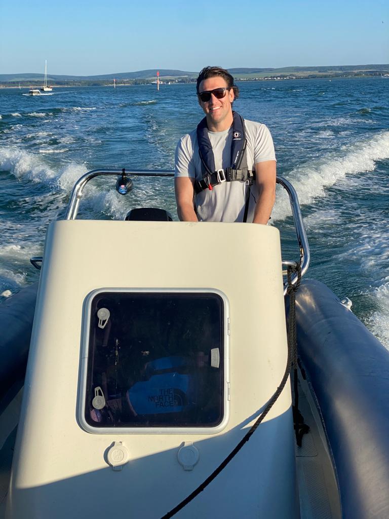 Rob McGill driving a custom made RIB