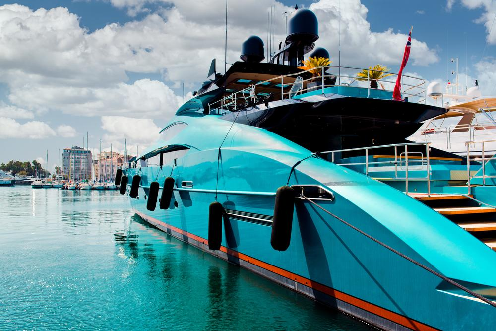 Luxury-yacht-in-Port-Le-Vieux-Cannes-France