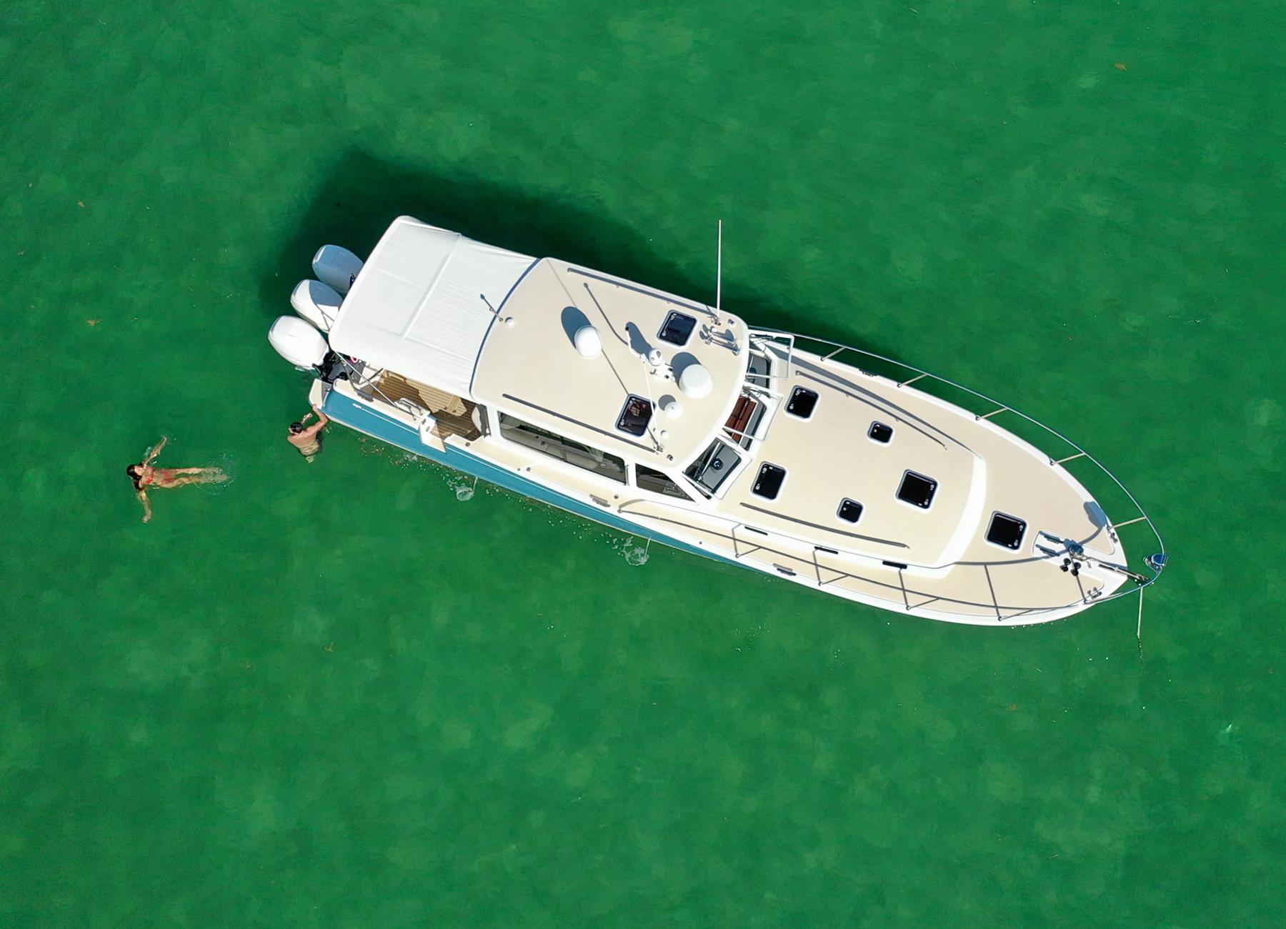MJM Yachts 43z Birds Eye View