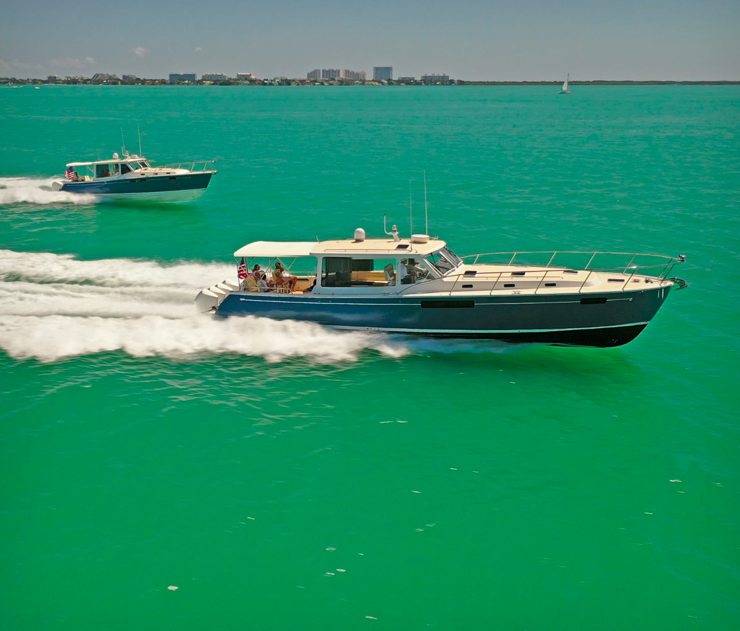 Outboard Powered Express Cruisers From MJM Yachts