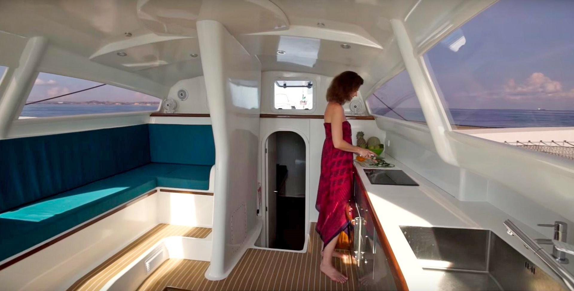 Rapido 60 Trimaran Sailing Yacht Interior Cabin